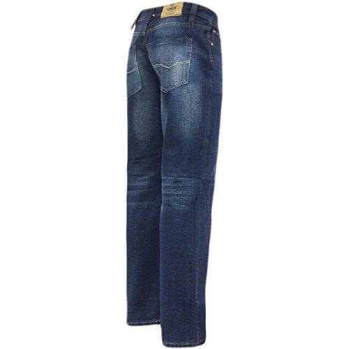 D555 Straight Jean pour homme Coupe relax 'Rinaldo'Vintage Pantalon de travail en Jean Indigo
