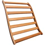 Dynamic Canadian Hemlock Sauna Backrest 2-pack 100% Natural Hemlock Wood Construction, S-Shape, No Stains, All Natural…