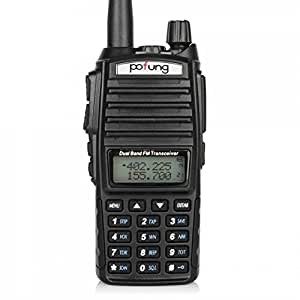 BaoFeng UV-82 Dual Band Two-Way Radio 136-174MHz VHF & 400-520MHz UHF (Black)