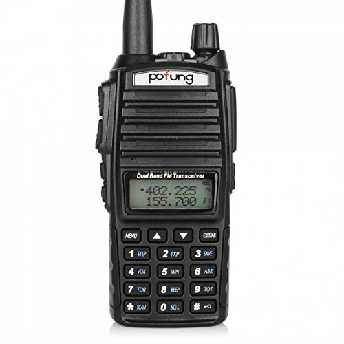 BaoFeng Pofung UV 82 Dual Band Two Way Radio 136 174MHz VHF & 400 520MHz UHF (Black)