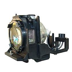 Supermait Et Lad12k Lamp Bulb Compatible With Panasonic Pt D12000 Pt Dw100 Pt Dz12000 Projector Lamp Bulb Replacement With Housing