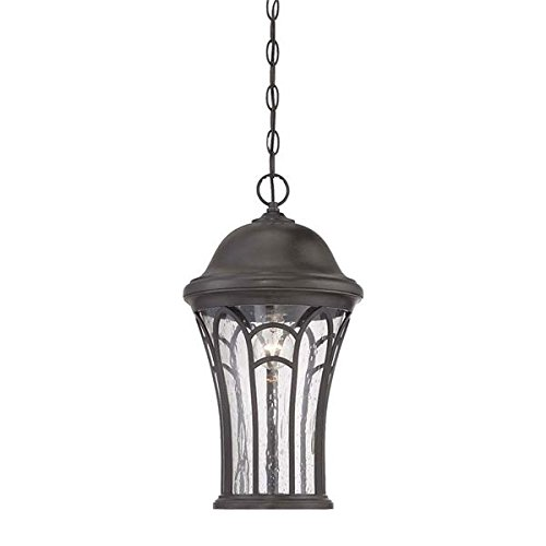 Acclaim 39526BC Highgate Collection 3-Light Outdoor Light Fixture Hanging Lantern, Black Coral