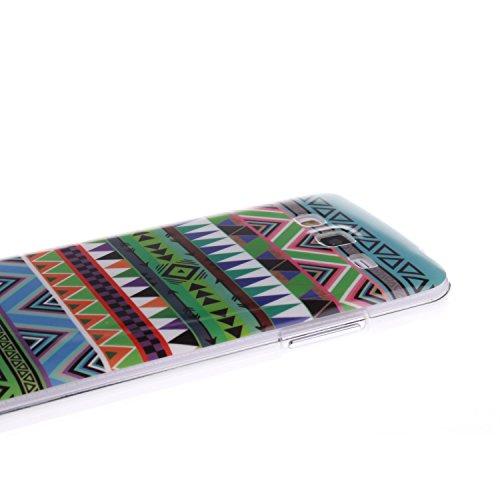 Samsung Galaxy G7106 Funda,Ligero a Prueba de Choques Flexible Ultra Fino Suave TPU Parachoque Carcasa MAGQI Tecnología IMD Diseño Impreso Vendimia Serie Patrón [Absorción de Impacto] Resistente a los Patrón Nacional