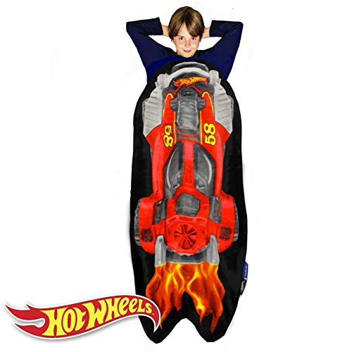 - Blankie Tails Hot Wheels Car Shaped Blanket Super Soft-Double Sided Minky Fleece Sized for Kids- Climb Inside This Cozy Wearable Blanket