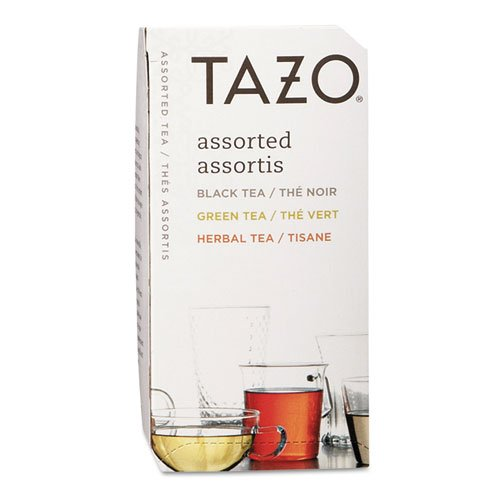 - Tazo 153966 Assorted Black & Green Teas and Herbal Infusions (24 Teabags)