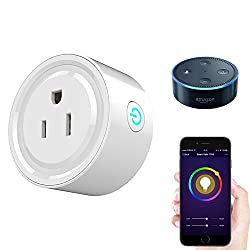 Wi-Fi Smart Plug Mini, Works with Alexa, No Hub Required Control Your Device from Anywhere, Timing Function
