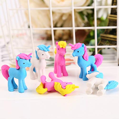 Mustwell 3pcs/Lot Unicorn Eraser Novelty Trojan Horse Erasers For Correction Kids Learning Tools Stationery Office School Supplies by Mustwell (Image #1)