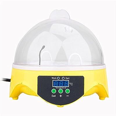 Pggpo Digital de la temperatura pequeño pollitos 7 Mini el Criadero huevo incubadora nacedora para pollo pato pájaro: Amazon.es: Hogar