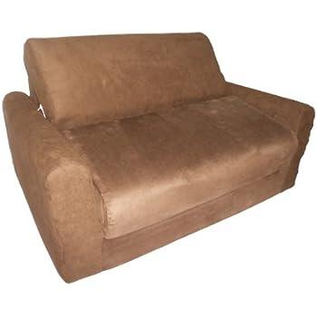 Amazon Com Fun Furnishings Sofa Sleeper Brown Kitchen