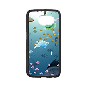 Samsung Galaxy S6 Cell Phone Case Black Underwater Shoal of fish VIU082001