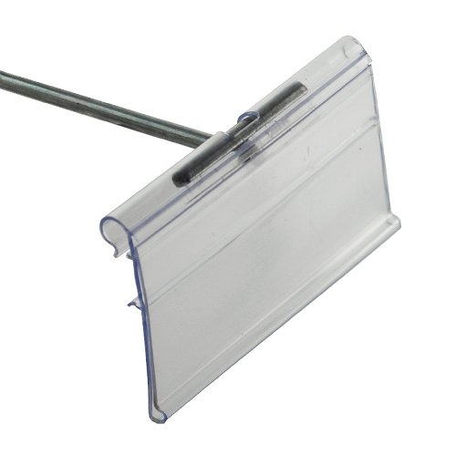 Azar 700843 1.5'' x 3'' Flip Scan Label Holder, 50 Pack by Azar Displays (Image #2)