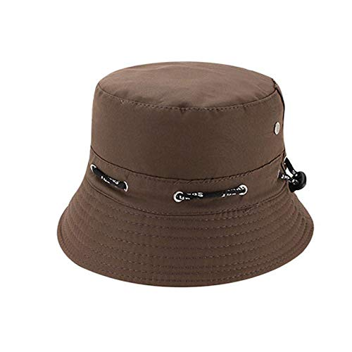 Quaanti Outdoor Unisex Boonie Sun Hat丨Cool Breathable 100% Cotton Bucket Summer Sun Cap for Men & Women丨for Fishing,Hiking,Camping,Boating & Outdoor Adventures.Breathable (Coffee)