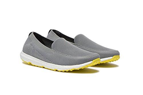 Zwemt Mens Breeze Leap Knit Loafers Voor Zwembad, Strand En Rondom Comfort - Zwempeer Je Zomer Lichtgrijs / Geel