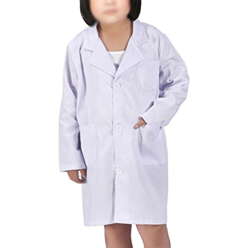 Kids Lab Coat for Kid Scientists Or Doctors Role Play Costume Dress-up Set (L/6-8T, White) - http://coolthings.us