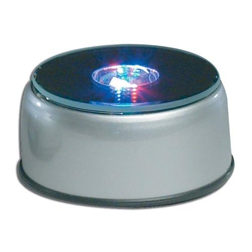Crystal Etched Base - Laser Krystal International Etched Crystal Cube Light-Up LED Base with Adaptor, 4