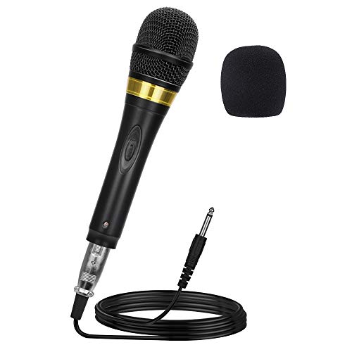 Ankuka Pro Vocal Dynamic Karaoke Microphone with XLR to 6.35mm Cable for Audio Connection, Professional Handheld Mic with 13ft Wire for Stage Karaoke Singing Recording Speech Wedding Indoor Outdoor (Best Karaoke Mixer 2019)