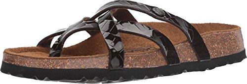 Betula Licensed by Birkenstock Women's Vinja Croko Embossed Brown (Birkenstock Embossed Sandals)