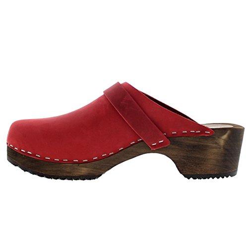 Moheda Womens Emma Nubuck Sandals Rot