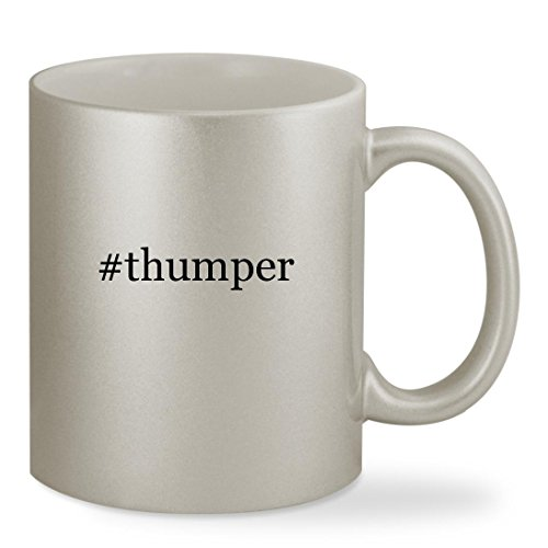 #thumper - 11oz Hashtag Silver Sturdy Ceramic Coffee Cup (Bass Pro Pot)