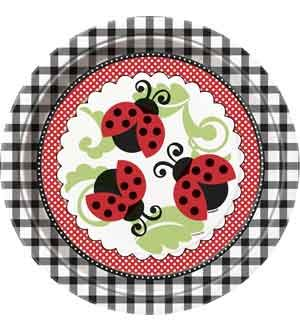 Lively Ladybugs 9 Inch Plates 8 Ct (3 Piece/Pack) - 44095U