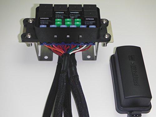 amazon com universal waterproof fuse relay box panel car truck atv rh amazon com Aftermarket Fuse Box Motorcycle Auxiliary Fuse Box