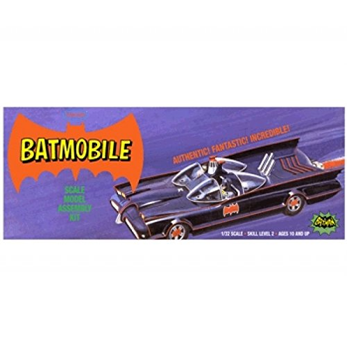 Batmobile (Classic) in Retro Purple Box - Plastic Model Kit, Skill Level 2 - Paint and Glue - Memory Lane Car