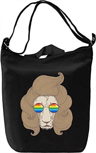 Boho lion Borsa Giornaliera Canvas Canvas Day Bag| 100% Premium Cotton Canvas| DTG Printing|