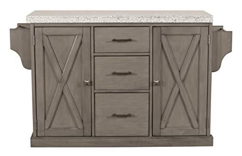 Hillsdale Furniture 4786-862G Brigham Kitchen Island with Granite Top, Gray ()