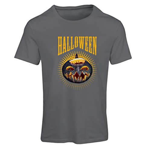 T Shirts for Women Halloween Pumpkin - Clever Costume Ideas 2017 (Large Graphite Multi Color) ()