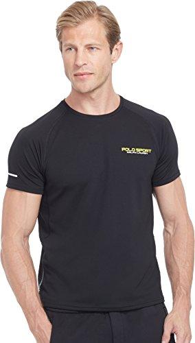 Polo Sport Men's Micro-Dot Jersey T-Shirt (Black, Small)