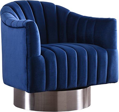 Meridian Furniture 519Navy Farrah Velvet Accent Chair, Navy