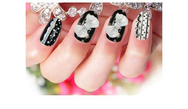 Uñas postizas False Nail puntas Fake uñas, francés de tipo strato cuenta con 3DF Fashion -124 nail adhesivo tatuaje de - Life: Amazon.es: Belleza