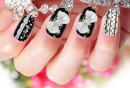 Uñas postizas False Nail puntas Fake uñas, francés de tipo strato cuenta con 3DF Fashion