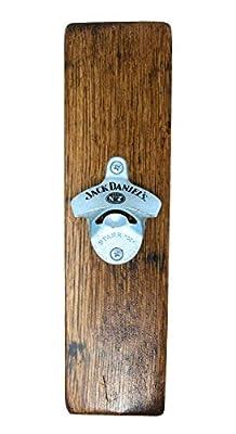 Jack Daniel's Barrel Wood Bottle Opener– Made from Authentic Jack Daniel's Barrel – Made in USA