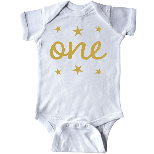 inktastic 1st Birthday Outfit One Gold Infant Creeper 12 Months White