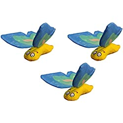 Yeowww! Duckyworld 100% ORGANIC Flower Leaf Catnip Cat Toy Butterflies (3 Toys, Blue)
