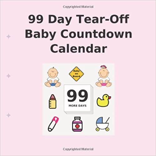 Book 99 Day Tear-Off Baby Countdown Calendar