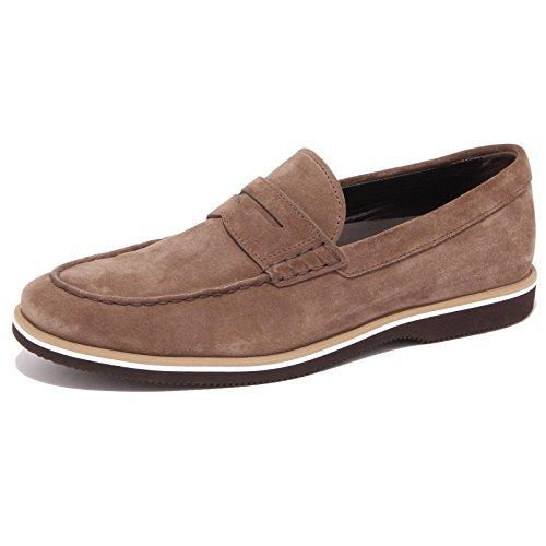 3830Q mocassino uomo HOGAN marrone scarpa suede brown shoe men Marrone