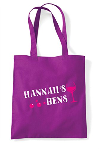 Champagne Party Do Hen Bubbly Shopper Design Personalised Magenta Bag Tote Customised HOcqIqwxSp