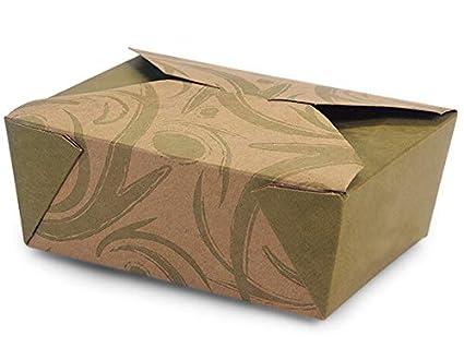 Bio Pak Take Out cajas – # 8 Sonoma 100% reciclado Bio Pack 6 –