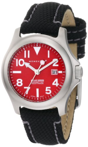 Momentum Women's 1M-SP01R14B Atlas Red Dial Black Snowboard Nylon Watch