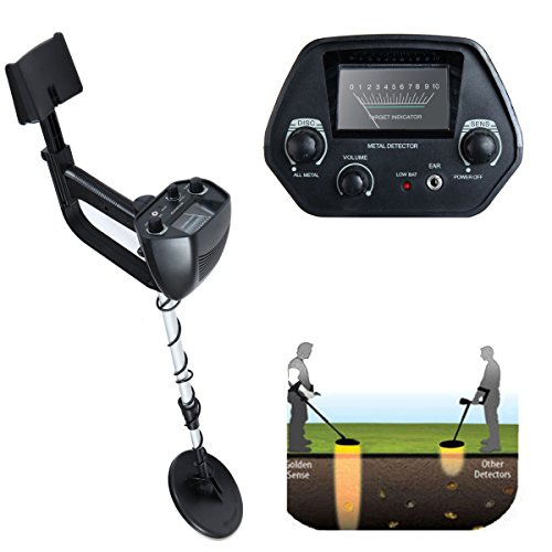 JAXPETY Underground Waterproof Metal Detector Deep Sensitive Search Gold Digger Hunter 6.5