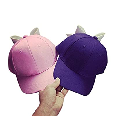 Besooly Women Girl Baseball Cap Cute Solid Bow Hip Hop Cap Snapback Flat Ourdoor Sunhat Adjustable by BESO