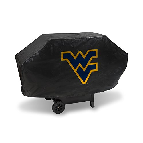 (NCAA West Virginia Mountaineers Vinyl Padded Deluxe Grill Cover)