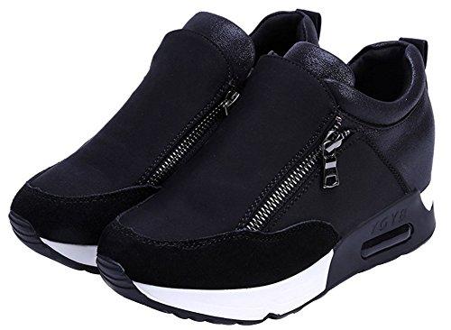 5 Entro Palestra Aumentato 2 Running Nero Donna Scarpe Sneakers Cm Wealsex Casuale Da Sportive Piedi A xSOcPp