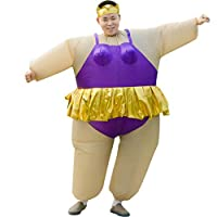 HUAYUARTS Inflatable Costume Ballet Game Cloth Adult Funny Blow up Suit Halloween Men