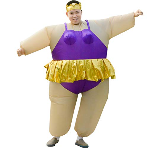 Purple Inflatable Funny Costumes - HUAYUARTS Inflatable Costume Ballet Game Cloth