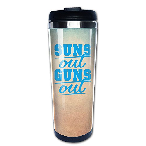 Boomy Cool Sun's Out Guns Out Stainless Steel Travel Mug For Indoor & Outdoor Office School Gym Use