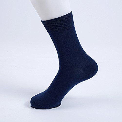 (Wanglele All Cotton Socks, Pure Color Men'S Comfortable Breathable Socks, Central Socks, Sweat Socks, Deodorant, Breathable, Anti Friction Socks, Ten Pairs,Tibet Navy)