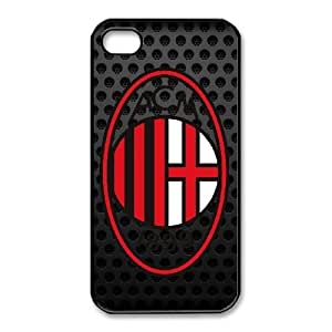 Special Design Case iPhone 4,4S Black Cell Phone Case Cznwg AC Milan Durable Rubber Cover